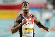 Britain's Dwain Chambers competes at the 2012 IAAF World Indoor Athletics Championships in Istanbul in March 2012. Convicted drugs cheat Chambers was named in Great Britain's Olympic athletics squad on Tuesday after his lifetime ban was overturned by world anti-doping chiefs