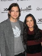 "Ashton Kutcher and Demi Moore attend the launch party for ""Real Men Don't Buy Girls"" at Steven Alan Annex in New York City, on April 14, 2011 -- Getty Images"