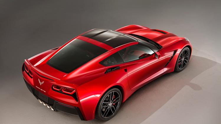 This undated product image provided by General Motors shows the all-new 2014 Chevrolet Corvette Stingray. General Motors unveiled the revamped Corvette, the first new version of the iconic sports car in nine years, Sunday, Jan. 13, 2013, in Detroit. (AP Photo/General Motors, Alan Vanderkaay)