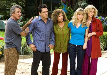 Dustin Hoffman , Ben Stiller , Barbra Streisand , Teri Polo and Blythe Danner in Universal Pictures' Meet the Fockers