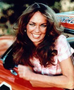 "Daisy Duke on ""The Dukes Of Hazzard,"" played by Catherine Bach"
