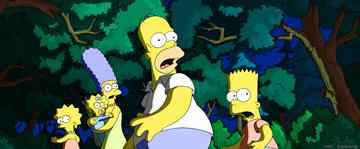 Lisa (voiced by Yeardley Smith ), Marge (voiced by Julie Kavner ), Maggie, Homer (voiced by Dan Castellaneta ) and Bart (voiced by Nancy Cartwright ) in 20th Century Fox's The Simpsons Movie