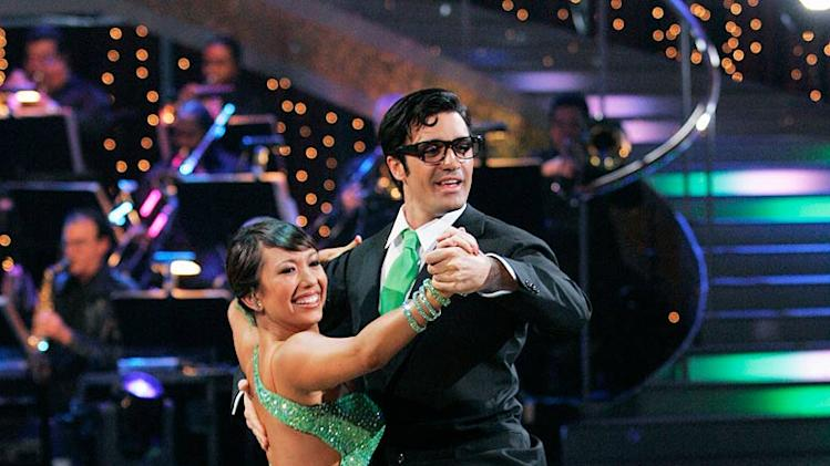 "Gilles Marini and Cheryl Burke perform the Quickstep to ""Kryptonite"" by 3 Doors Down on ""Dancing with the Stars."""