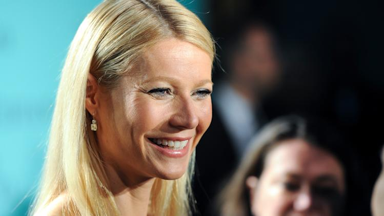 Actress Gwyneth Paltrow attends the Tiffany & Co. Blue Book Ball at Rockefeller Center on Thursday April 18, 2013 in New York. (Photo by Evan Agostini/Invision/AP)