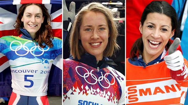Amy Williams, Lizzy Yarnold and Shelley Rudman (Reuters)