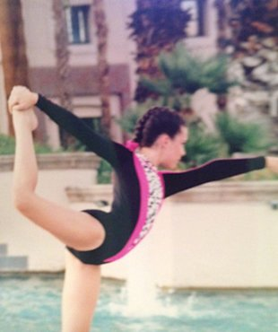Nationally-ranked sports acrobatics athlete Brittany Dunlop, '97. (Misty Talbutt Hembree)