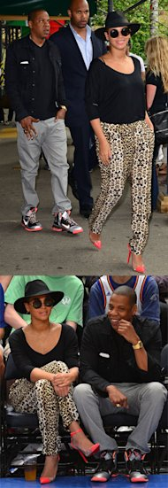 Beyonce looks ready for SS12 in prints and pastels in New York