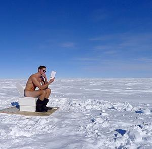 Alexander Skarsgard Sits Nude on Outdoor Toilet in South Pole After Charity Trek: Picture