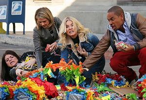 Casey Wilson, Eliza Coupe, Elisha Cuthbert, Damon Wayans Jr. | Photo Credits: Richard Cartwright/ABC