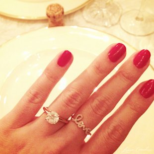 Lauren Conrad's gorgeous solitaire engagement ring.