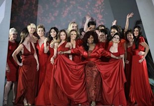 Celebrities walked the runway for the Heart Truth Red Dress fashion show