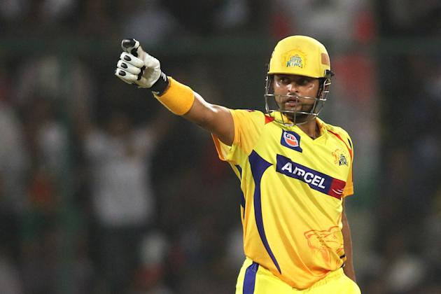 Suresh Raina of the Chennai Super Kings