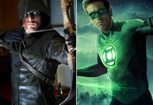 Stephen Amell, Ryan Reynolds  | Photo Credits: CW; Warner Bros. Entertainment