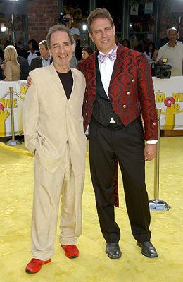 Harry Shearer and director David Silverman at the Los Angeles premiere of 20th Century Fox's The Simpsons Movie
