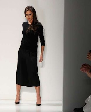 Victoria Beckham closing out her fall 2014 runway show.