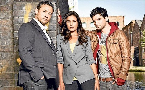 Warren Brown, Shelley Conn and Andrew Lee Potts star in 'By Any Means'
