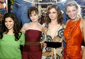 Premiere: America Ferrera, Alexis Bledel, Amber Tamblyn and Blake Livley at the Hollywood premiere of Warner Bros. Pictures' The Sisterhood of the Traveling Pants - 5/21/2005