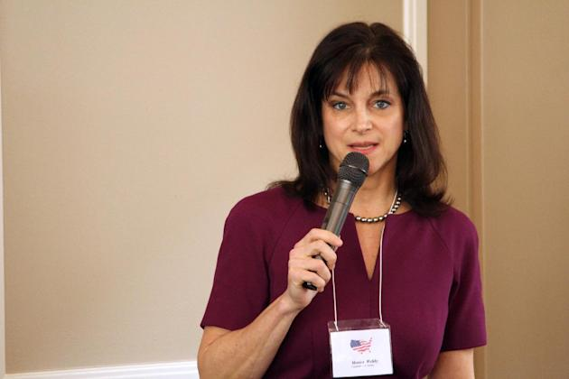 In this March 19, 2014 photo, Oregon Republican Senate candidate, Monica Wehby speaks at a candidate forum in Lake Oswego, Ore. Republicans are making a bold play for a U.S. Senate seat in Oregon, a r