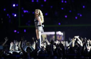 File photo of Beyonce and Destiny's Child performing during the half-time show of NFL Super Bowl XLVII football game in New Orleans