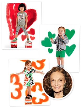 Courtesy of DVF for GapKids; Eugene Gologursky/WireImage