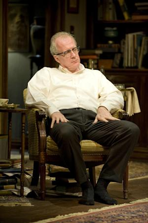 This theater image released by Jeffrey Richards Associates shows Tracy Letts during a performance of Edward Albee's Who's Afraid of Virginia Woolf, opening Oct. 13, 2012 at the Booth Theatre in New York. (AP Photo/Jeffrey Richards Associates, Michael Brosilow)