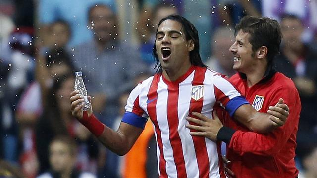 Man City boss Mancini watches £45m Falcao