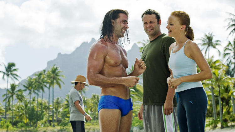 Carlos Ponce Vince Vaughn Malin Akerman Couples Retreat Production Stills Universal 2009