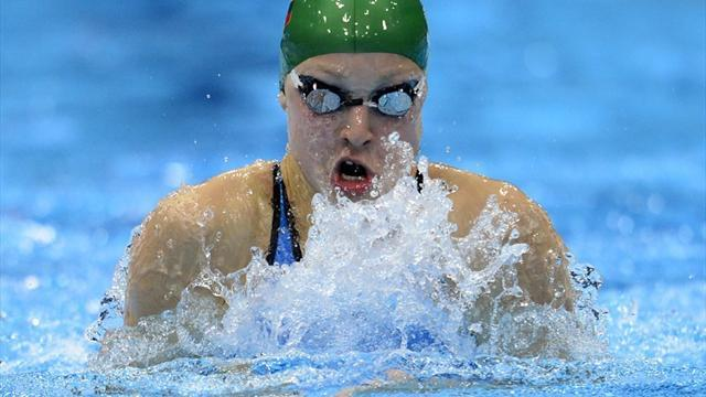 Swimming - Meilutyte wins world title, Le Clos beats Lochte