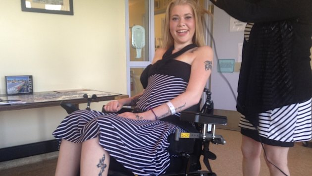 Ashley MacLean ready for prom after home-invasion shooting. (CBC)