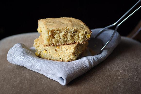 Double Corn Bread with Fresh Thyme