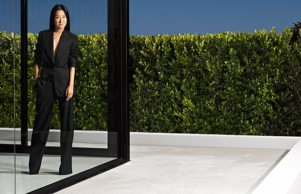 Wang, in her usual, more covered-up style. Douglas Freidman/Harper's Bazaar