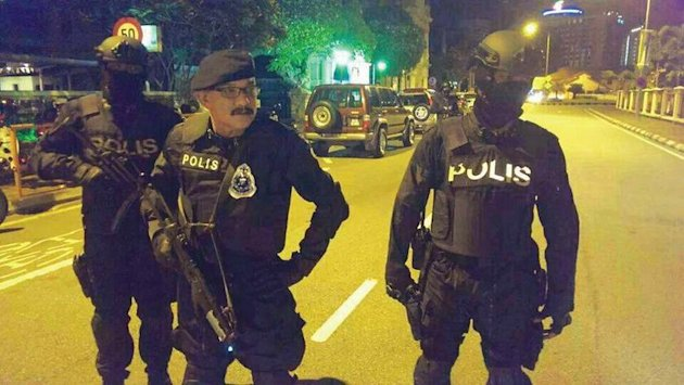 Penang police chief Datuk Abdul Rahim Hanafi (centre) says about 50 suspects believed to be involved in secret societies have been detained under the Prevention of Crime Act since last year. — Malay Mail pic