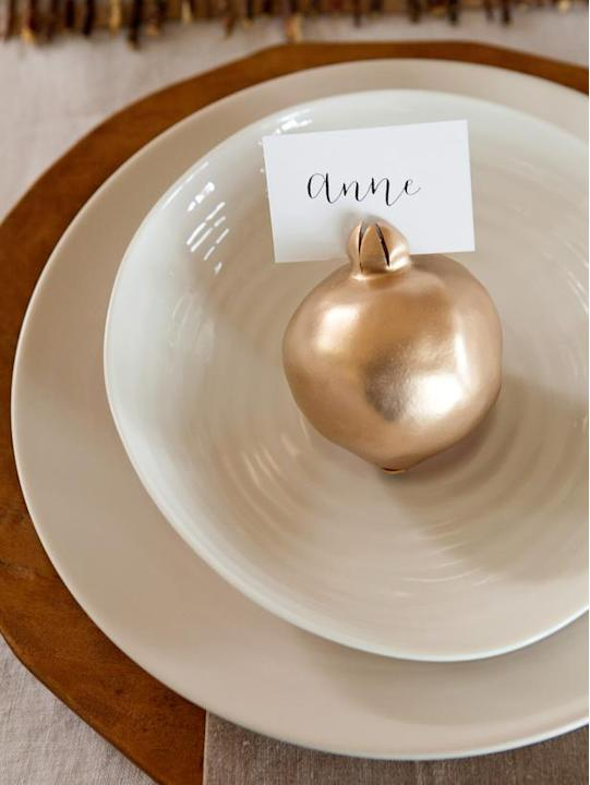 Easy-to-Craft Pomegranate Place Cards