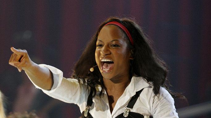 Monique Coleman performs in High School Musical: The Concert.