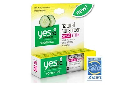 Yes to Cucumbers natural sunscreen SPF 30 stick