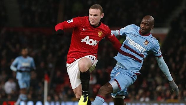 Wayne Rooney and Alou Diarra, Manchester Unied v West Ham