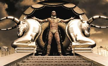 Rodrigo Santoro as Xerxes in Warner Bros. Pictures' 300