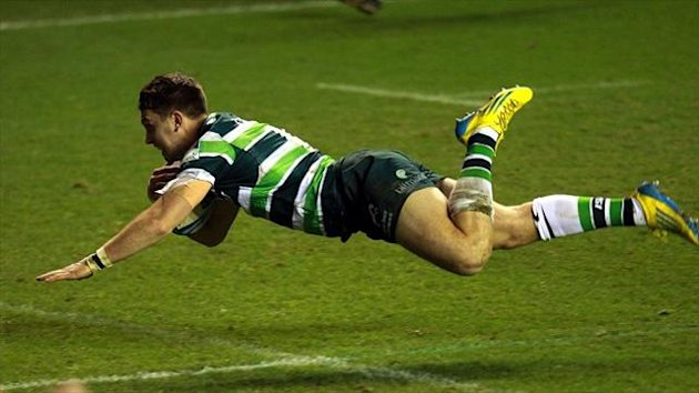 A late Alex Lewington try ensured London Irish came out on top 24-13 against Stade Francais at the Madejski Stadium