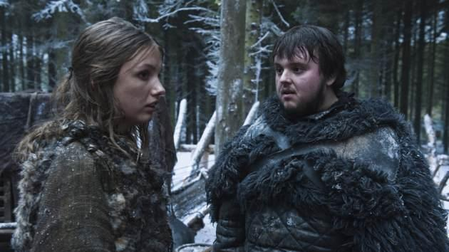 Gilly (Hannah Murray) and Samwell Tarly (John Bradley) in 'Game of Thrones' Season 2 -- Helen Sloan/HBO