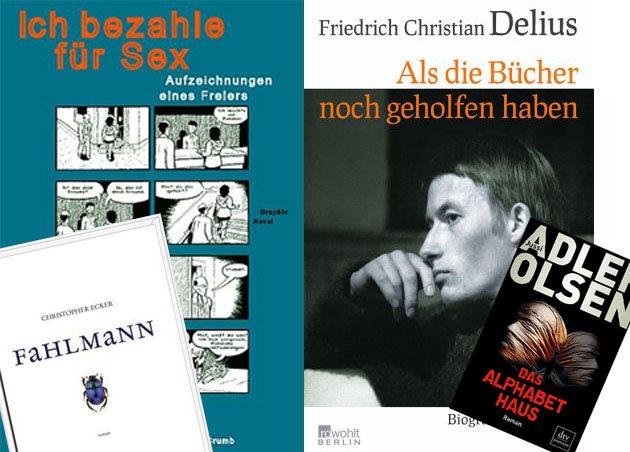 Delius, Ecker, Brown und Adler-Olsen: Denis Schecks Bücher des Monats.
