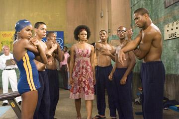 Regine Nehy , Evan Ross , Nate Parker , Kimberly Elise , Alphonso McAuley , Brandon Fobbs and Kevin Phillips in Lionsgate Films' Pride