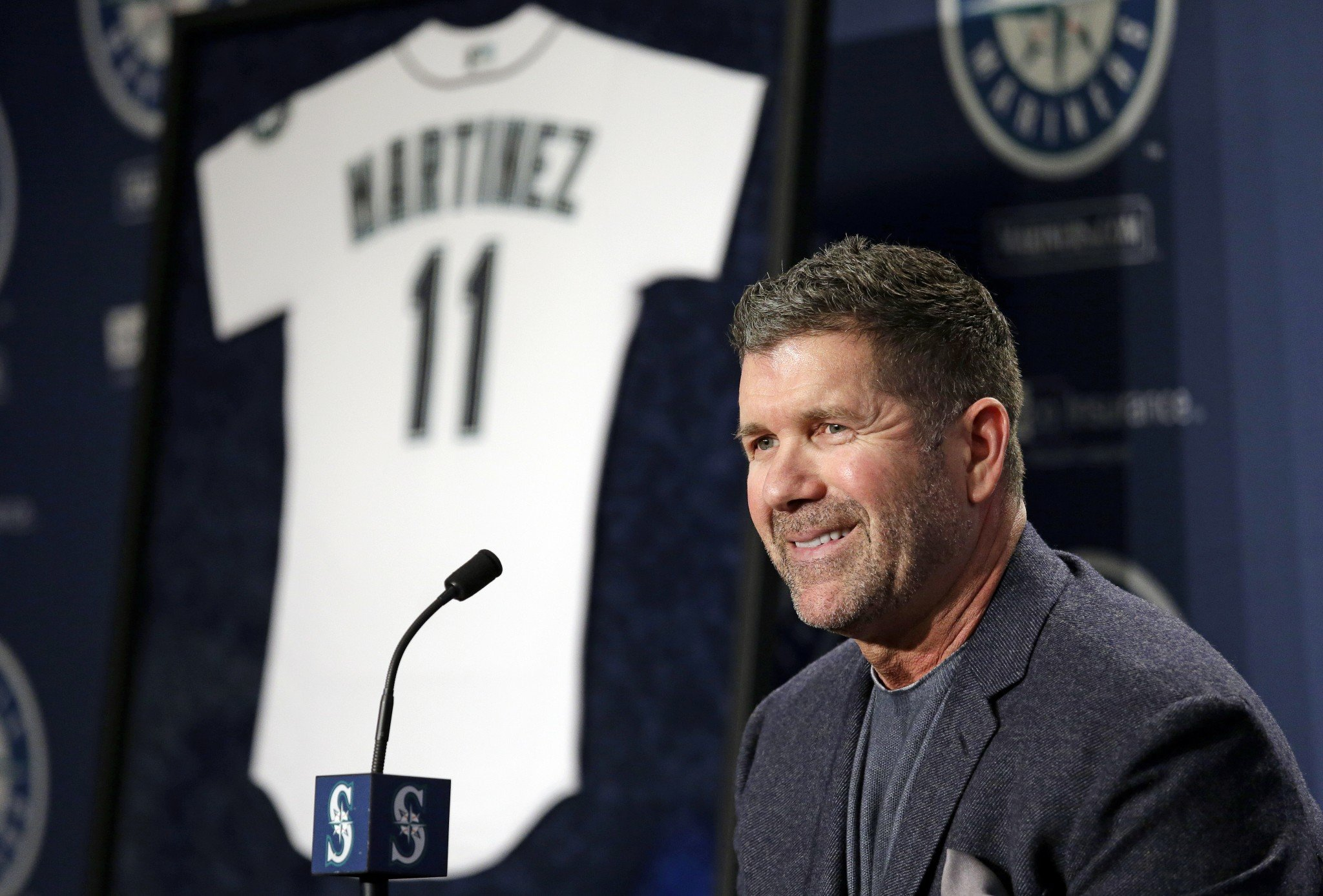 Edgar Martinez's No. 11 will be retired in Seattle come August. (AP)