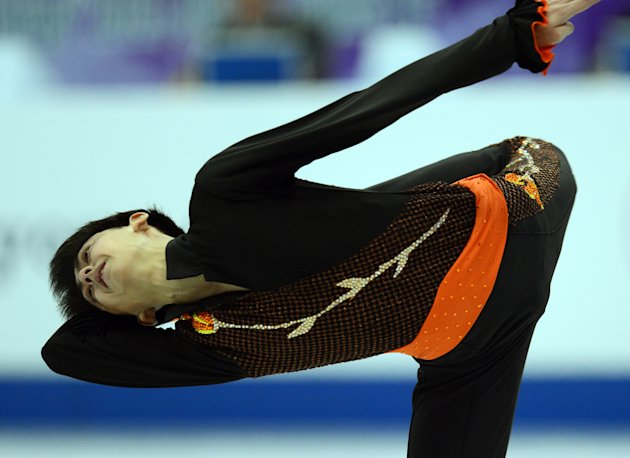 Philippines' Michael Christian Martinez performs his free skating in the men's event during the Four Continents figure skating championships in Osaka on February 9, 2013. AFP PHOTO / TOSHIFUMI KITAMURATOSHIFUMI KITAMURA/AFP/Getty Images