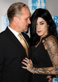 Jesse James and Kat Von D attend L.A. Gay & Lesbian Center's 'An Evening With Women' at The Beverly Hilton hotel in California last month. (Photo: Jason LaVeris/Getty Images)