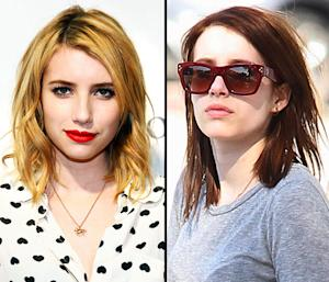 PIC: Emma Roberts Dyes Her Hair Brown!
