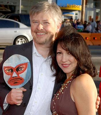 Dave Foley with Crissy Guerrero at the Hollywood premiere of Paramount Pictures' Nacho Libre