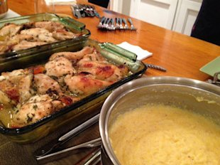 Fall Harvest Chicken With Creamy Polenta
