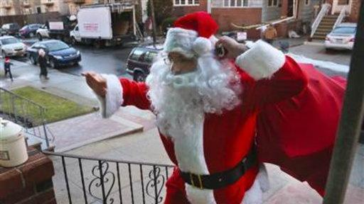 Santa Visits Young Victims of Hurricane Sandy