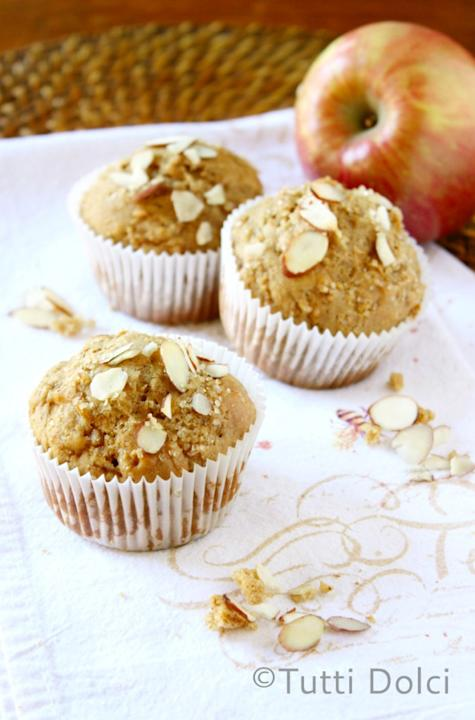 Almond Butter and Apple Muffins