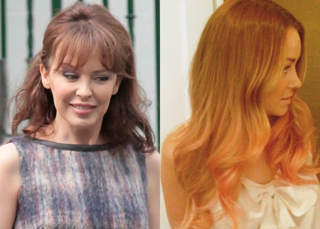 Kylie brown hair Lauren Conrad peach hair